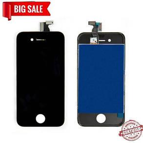Модуль (сенсор + дисплей) Apple iPhone 4 high copy чорний, фото 2