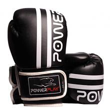 Боксерські рукавиці PowerPlay 3010 Чорно-Білі 8 унцій SKL24-143649