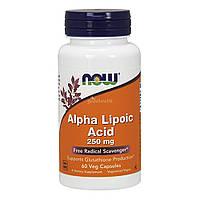 NOW Foods, Альфа-липоевая кислота, 250 мг, 60 вегетарианских капсул