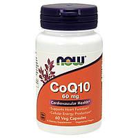 NOW Foods, Коэнзим Q10, 60 мг, 60 вегетарианских капсул