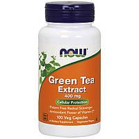 Now Foods, Экстракт зеленого чая, 400 мг, 100 вегетарианских капсул
