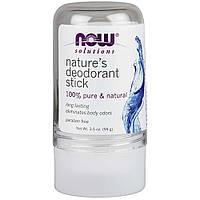 NOW Foods, Решения, Натуральный дезодорант-стик, 99 г