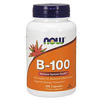 NOW Foods, B-100, здоровье нервной системы, 100 веганских капсул