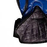 Боксерські рукавиці PowerPlay 3017 Сині карбон 16 унцій SKL24-144017, фото 4
