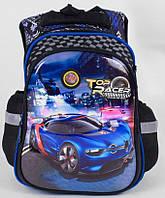 Школьный рюкзак Машинка 1, 2, 3, 4 класс для мальчика. Портфель ранец ортопедический для школы полу каркасный