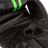 Боксерські рукавиці PowerPlay 3016 Чорно-Зелені 14 унцій SKL24-144158, фото 8