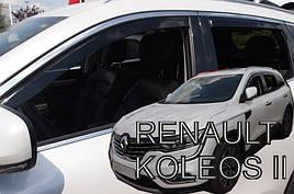 Дефлекторы окон (ветровики)   Renault Koleos II  2017-> ПЕРЕДНИЕ  2 шт. (HEKO)