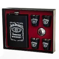 """Мужской подарочный набор с флягой и рюмками """"Jack Daniels"""", фото 1"""