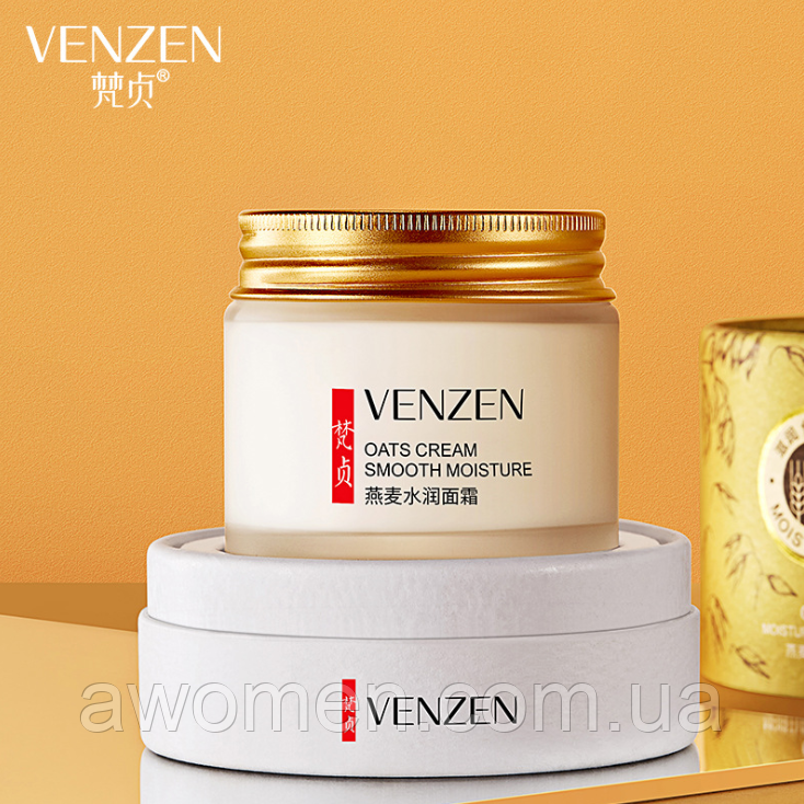 Уцінка! Крем для обличчя Venzen OATS Cream з екстрактом вівса 70 g (в картонному футлярі) пом'ята коробка!