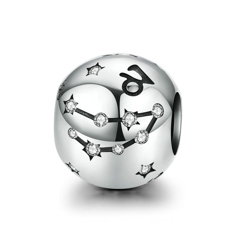 """Шарм """"Знак зодіаку Козеріг"""" срібло 925 проба, кубічний цирконій"""