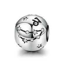 "Шарм ""Знак зодиака Козерог"" серебро 925 проба, кубический цирконий"