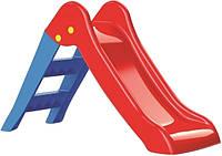 Дитяча гірка, пластикова, червоно-синя, 47х70х111см, у кор. //