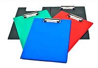 Планшет подвійний з кишенею, товщина 2мм, чор/черв/син/зел