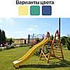 Горка детская пластиковая 3 м с деревянной лестницей спуск для детей