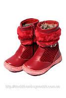 Зимние сапожки «Шалунишка» красные