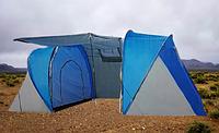 Палатка кемпинговая (450x220 см) 4х местная + двойная-ШАТЕР (два входа)