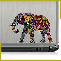 """Виниловая наклейка """"Elephant"""" на ноутбук/холодильник"""