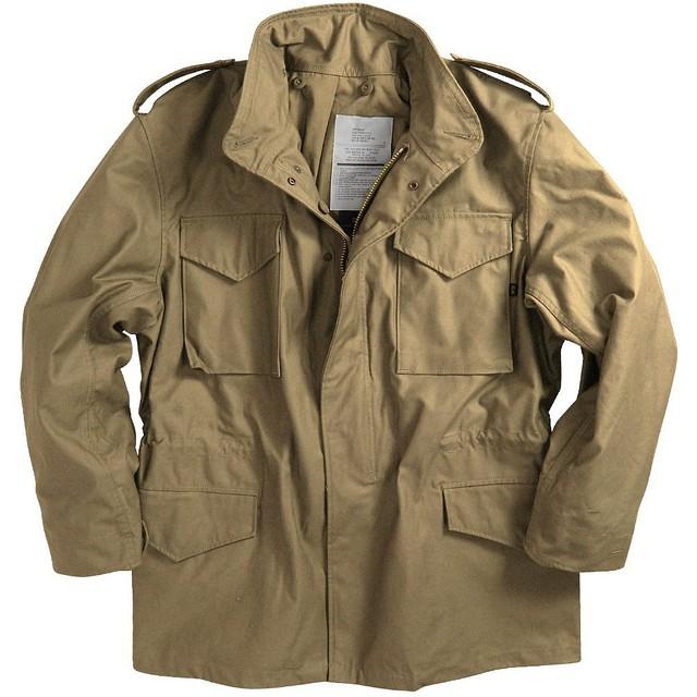 Мужская куртка Alpha Industries M-65 Field Coat khaki