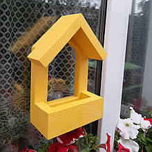 Кормушка для птиц с присосками на окно Балкон
