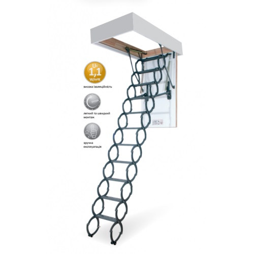 Чердачная лестница металлическая Lite Step OST-B 70x80 см
