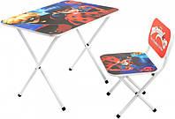 Детский стол со стульчиком Леди Баг для дошкольного возраста, 576