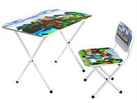 Детский стол со стульчиком Майнкрафт для дошкольного возраста, 575