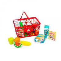 """Корзина с продуктами """"Супермаркет"""", 23 эл (красная) 379 в.5"""