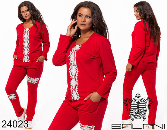 Женский стильный костюм спортивный, р-ры 48-54, фото 2