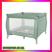 Детский манеж кровать  с прицепными кольцами Carello Grande CRL-9204/1 Cameo Green зеленый