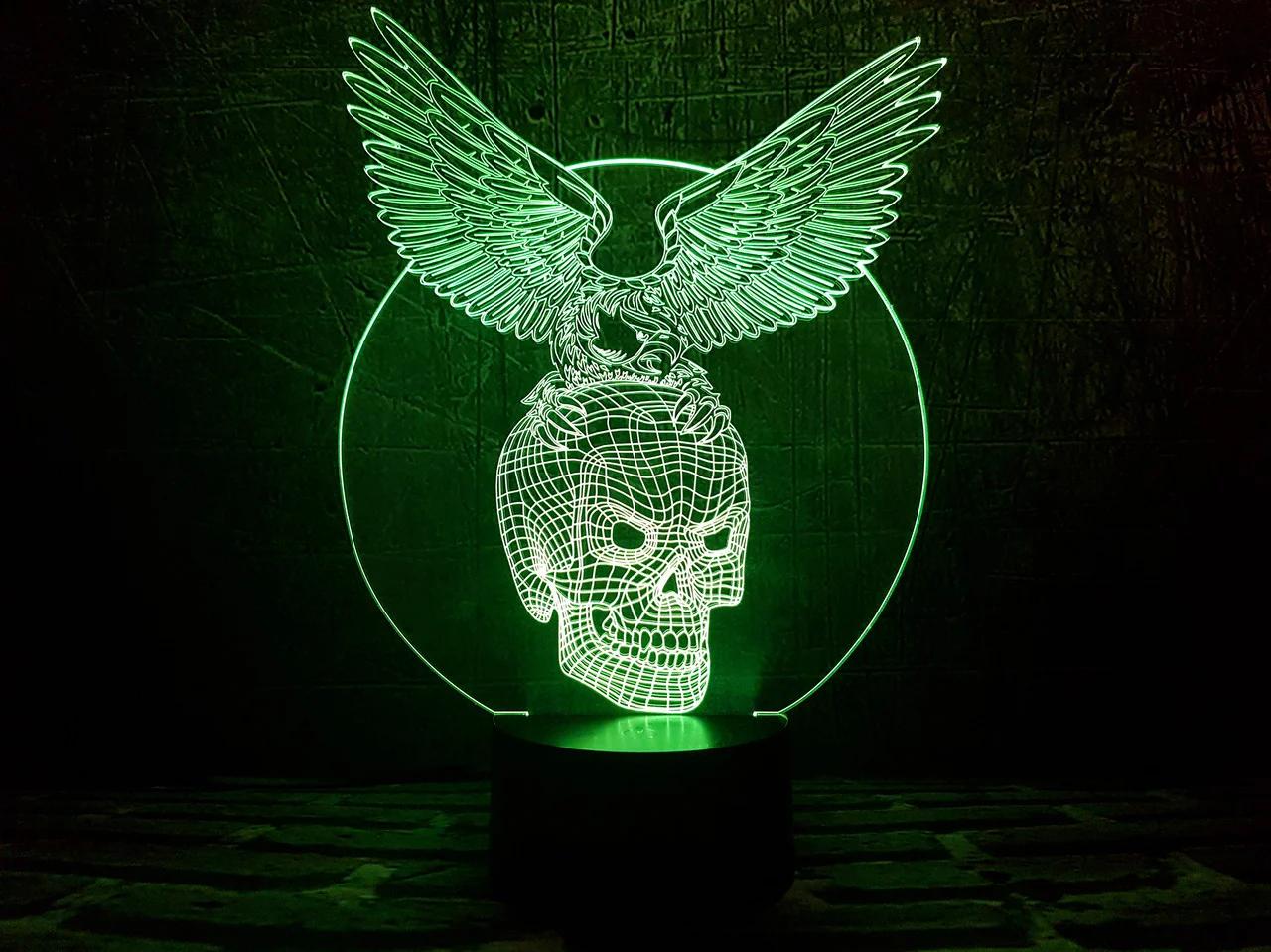 """Сменная пластина для 3D светильников """"Хрустальный череп"""" 3DTOYSLAMP"""