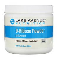 Порошок D-рибозы, без добавок, D-Ribose Powder Lake Avenue Nutrition, 300 г (10,6 унции)