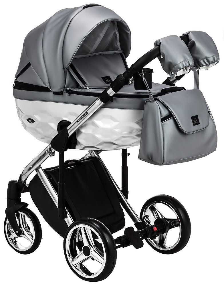 Детская универсальная коляска 2 в 1 Adamex Star Polar Star 122