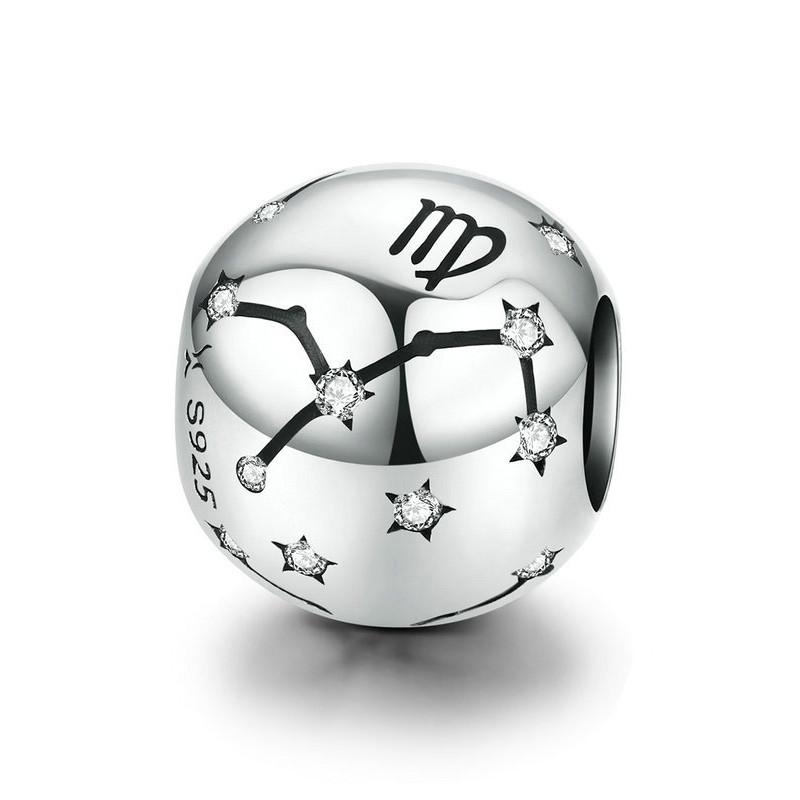 """Шарм """"Знак зодіаку Діва"""" срібло 925 проба, кубічний цирконій"""