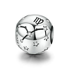 """Шарм """"Знак зодиака Дева"""" серебро 925 проба, кубический цирконий"""