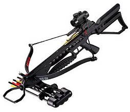 Арбалет гвинтівкового типу Man Kung XB21 Rip Claw (довжина: 775мм, сила натягу: 18кг), чорний, комплект