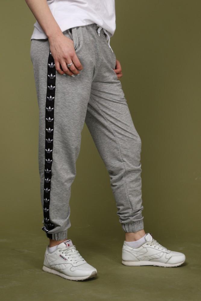 Штаны серые с чёрным лампасом Adidas