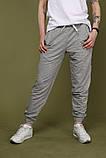 Штаны серые с чёрным лампасом Adidas, фото 2