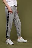 Штаны серые с чёрным лампасом Adidas, фото 3