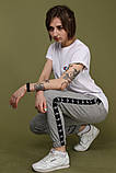 Штаны серые с чёрным лампасом Adidas, фото 4