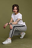 Штаны серые с чёрным лампасом Adidas, фото 6