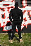 Штаны утеплённые чёрные с бело-чёрными лампасами Карра, фото 2
