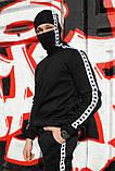 Штаны утеплённые чёрные с бело-чёрными лампасами Карра, фото 4
