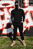 Штаны утеплённые чёрные с бело-чёрными лампасами Карра, фото 5