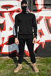Штаны утеплённые чёрные с бело-чёрными лампасами Карра, фото 6