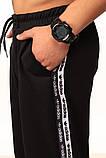 Штаны чёрные с двойным лампасом Adidas duo, фото 2