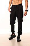 Штаны чёрные с двойным лампасом Adidas duo, фото 3