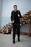 Мужской костюм хаки демисезонный Softshell Intruder. Куртка мужская хаки, штаны утепленные. Бафф в подарок, фото 3