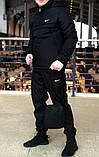Ветровка Анорак чёрный Найк, Nike + Штаны + подарок Барсетка, фото 3