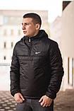 Ветровка Анорак чёрный Найк, Nike + Штаны + подарок Барсетка, фото 4