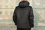 Ветровка Анорак чёрный Найк, Nike + Штаны + подарок Барсетка, фото 5